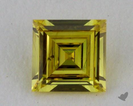 0.23 Carat fancy intense yellow Carre Cut Diamond