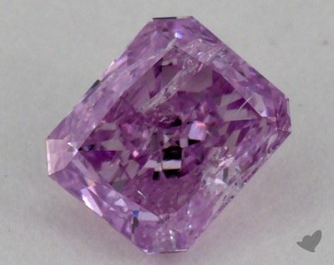 0.35 Carat fancy intense purplish pink-SI3 Radiant Cut Diamond