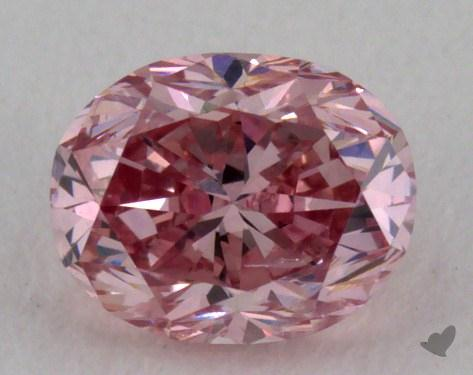 0.34 Carat fancy intense pink Oval Cut Diamond