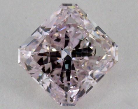 0.75 Carat light pink Radiant Cut Diamond