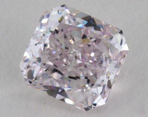 0.72 Carat light pink Radiant Cut Diamond