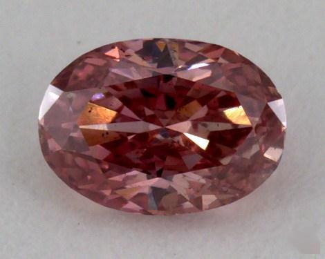 0.28 Carat fancy intense orange pink Oval Cut Diamond