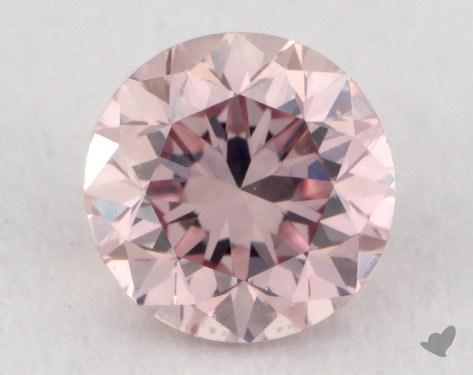 0.22 Carat fancy pink Round Cut Diamond