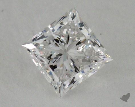 0.78 Carat F-SI1 Ideal Cut Princess Diamond
