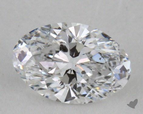 0.47 Carat D-I1 Oval Cut  Diamond