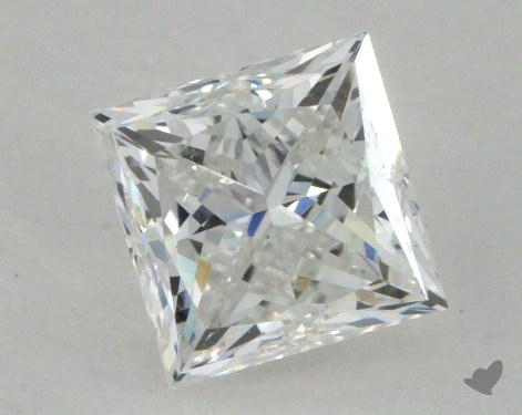 1.03 Carat F-SI1 Ideal Cut Princess Diamond