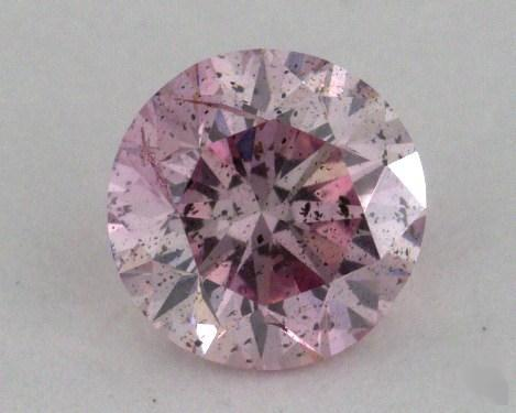 0.59 Carat fancy purple pink Round Cut Diamond
