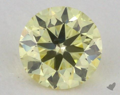 0.32 Carat  yellow-SI1 Round Cut Diamond