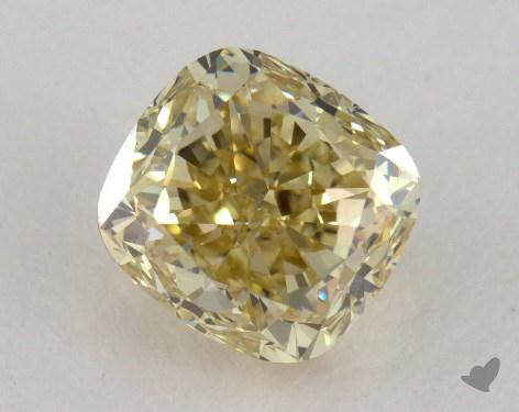 1.77 Carat  yellow-VS2 Cushion Cut  Diamond