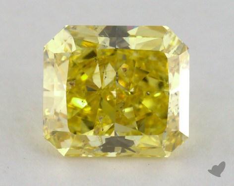 2.90 Carat  yellow-I1 Radiant Cut Diamond