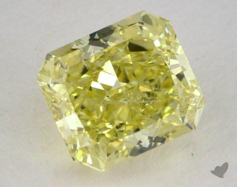 3.04 Carat  yellow-I1 Radiant Cut  Diamond