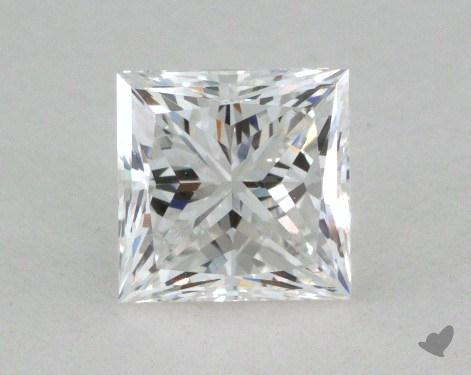 0.67 Carat F-VS2 Princess Cut  Diamond