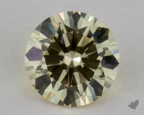 1.51 Carat fancy light yellow-VS2 Round Cut  Diamond