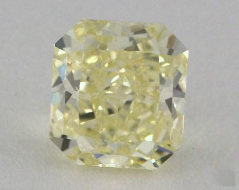 1.16 Carat fancy light yellow-SI2 Radiant Cut  Diamond