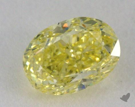 1.00 Carat fancy yellow-SI1 Oval Cut Diamond