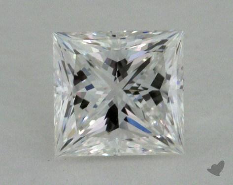 0.76 Carat E-VVS1 Ideal Cut Princess Diamond