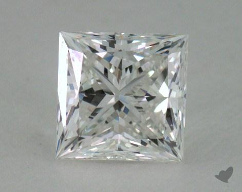 0.82 Carat F-VVS1 Very Good Cut Princess Diamond