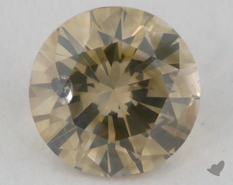 1.01 Carat fancy brownish greenish yellow Round Cut Diamond