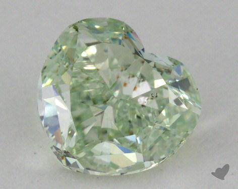 1.05 Carat fancy green-SI1 Heart Shape Diamond