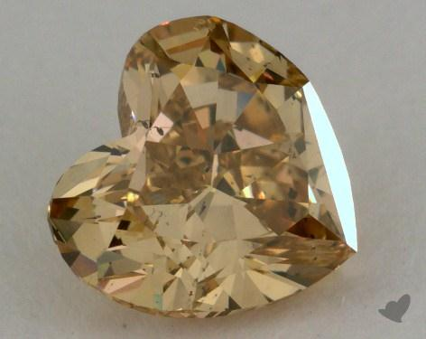 1.10 Carat fancy brownish yellow Heart Shaped  Diamond