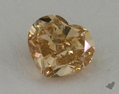 0.73 Carat fancy brownish yellow Heart Cut Diamond