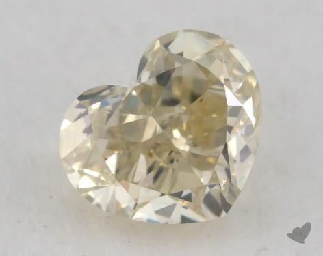 0.91 Carat fancy light brownish greenish yellow Heart Shaped  Diamond