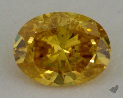 0.60 Carat fancy intense orange yellow Oval Cut Diamond