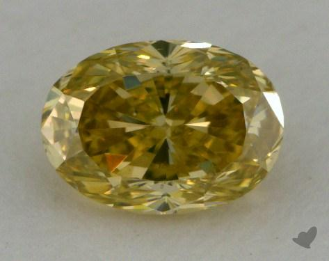 0.54 Carat fancy greenish yellow Oval Cut Diamond