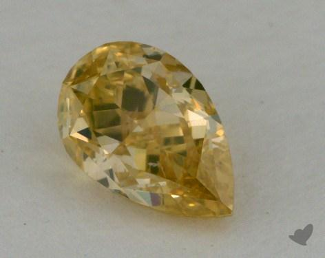 0.52 Carat fancy brownish yellow Pear Shape Diamond