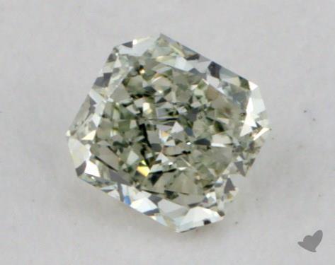 0.16 Carat fancy light yellowish green Radiant Cut Diamond