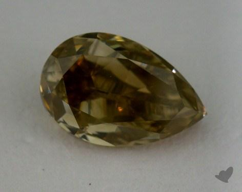1.70 Carat fancy brownish yellow Pear Cut Diamond
