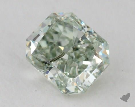 0.41 Carat fancy intense green Radiant Cut  Diamond