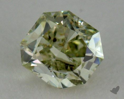 0.31 Carat fancy yellowish green Radiant Cut Diamond