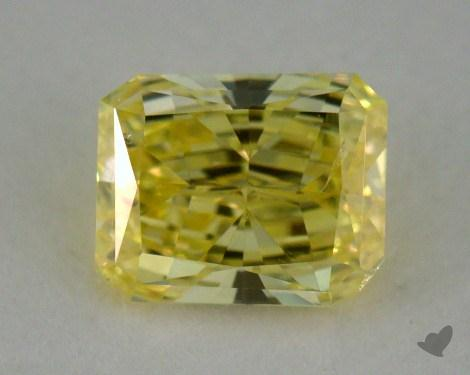 0.37 Carat fancy intense yellow Radiant Cut Diamond