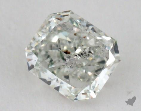 0.50 Carat very light green Radiant Cut Diamond