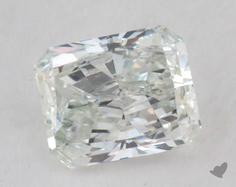 0.61 Carat very light green Radiant Cut  Diamond