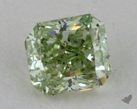 0.70 Carat fancy intense green Radiant Cut Diamond