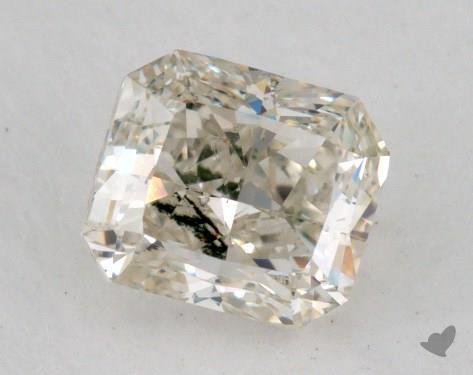 0.85 Carat fancy light greenish yellow Radiant Cut Diamond