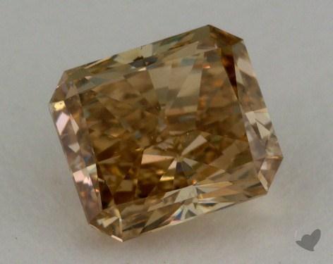 1.01 Carat fancy brownish yellow-SI1 Radiant Cut Diamond