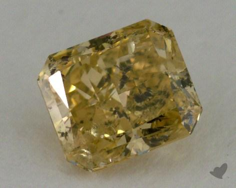 0.92 Carat fancy brownish yellow Radiant Cut Diamond 