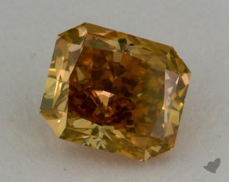 1.08 Carat fancy deep brownish yellow Radiant Cut Diamond