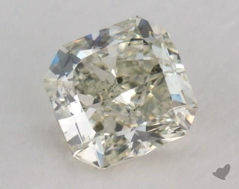 1.28 Carat fancy light yellowish green Radiant Cut Diamond