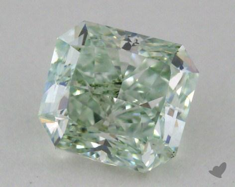 1.15 Carat fancy green-SI1 Radiant Cut  Diamond