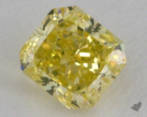 1.41 Carat fancy intense greenish yellow-SI1 Radiant Cut Diamond