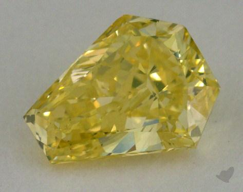1.13 Carat fancy intense greenish yellow Emerald Cut Diamond