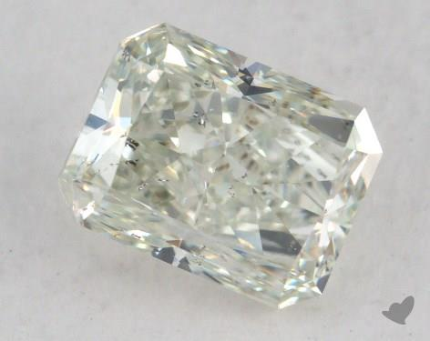 1.49 Carat fancy light yellowish green Radiant Cut Diamond