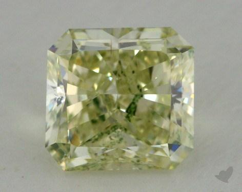3.05 Carat fancy greenish yellow Radiant Cut  Diamond