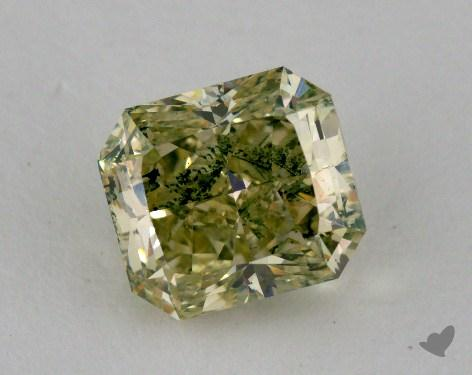 1.64 Carat fancy greenish yellowish green Radiant Cut Diamond