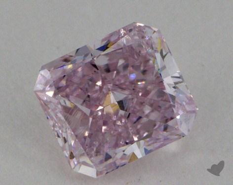 0.64 Carat fancy pink Radiant Cut Diamond