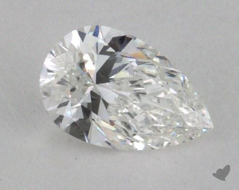 0.81 Carat F-SI1 Pear Shaped  Diamond